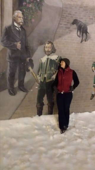 Me hanging with the cool old Victorian dude.