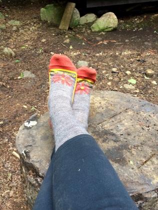 Happy feet with fresh socks.