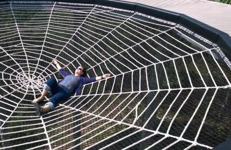 Wild Center - Wild Walk. The Spider web. If I wouldn't knock all the kids down I would have jumped away.